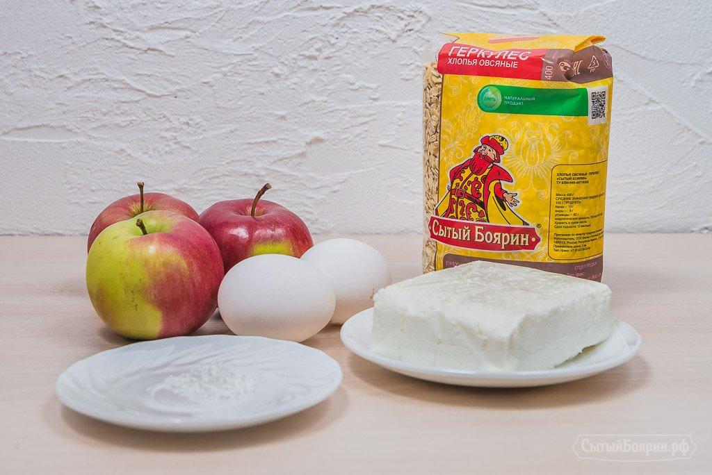 Творожно-яблочный пирог. Рецепт с фотографиями