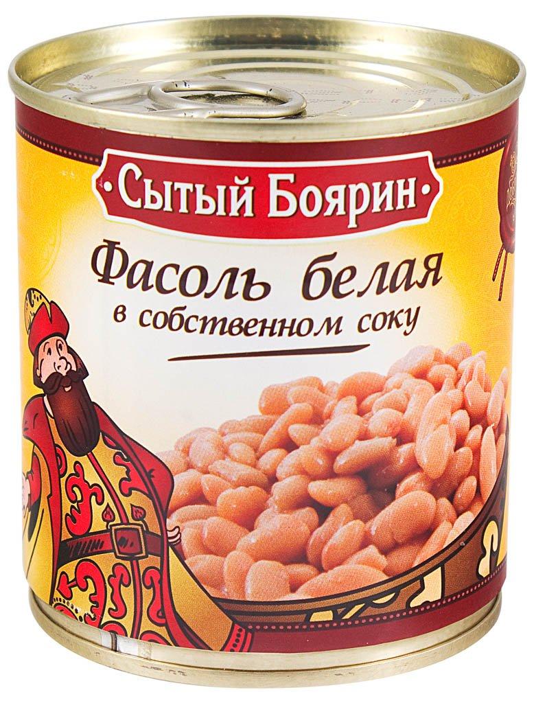 фасоль белая в собственном соку Сытый Боярин
